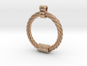Iron Age Cat Torq Pendant in 14k Rose Gold Plated Brass