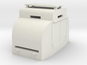 "40HP Simplex ""armoured""(OO9) in White Natural Versatile Plastic"