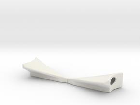 Rear Fender Wide 2.5 Deg in White Natural Versatile Plastic