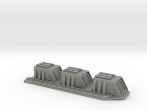 1/5000 Star Destroyer Devastator Dorsal Turrets in Gray Professional Plastic