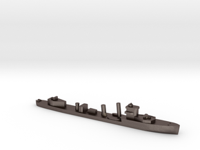 HMS Vega 1:3000 WW2 naval destroyer in Polished Bronzed-Silver Steel