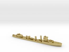 HMS Vega 1:3000 WW2 naval destroyer in Natural Brass
