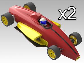 1:24 V5 Formula Ford Digital - 2 Cars in White Natural Versatile Plastic