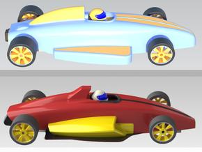 1:24 Formula Ford & Retro - 2 Cars in White Natural Versatile Plastic