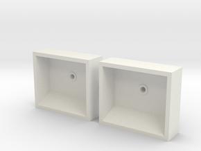 1x Paar Ankertaschen in White Natural Versatile Plastic