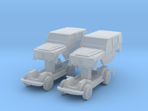 2x MB Wolf Mercedes G 1:220 in Smoothest Fine Detail Plastic