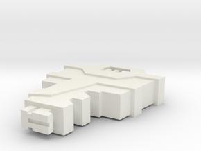 Allspark key in White Natural Versatile Plastic