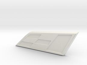 Leon Cupra Badge 35mm (Medium) in White Natural Versatile Plastic