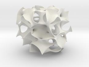 Skeletal mesh Sculpture in White Natural Versatile Plastic