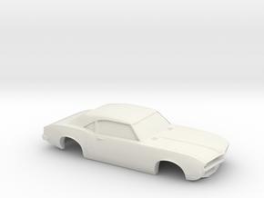 1/32 1967-69 Pontiac Firebird Shell in White Natural Versatile Plastic