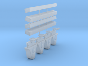 AC01 - Wooden Bearers and Axlebox Set for Slab Wag in Smooth Fine Detail Plastic