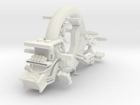 1/35 GantzO Motor Unicycle in White Natural Versatile Plastic