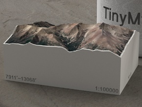 Wheeler Peak, Nevada, USA, 1:100000 Explorer in Natural Full Color Sandstone
