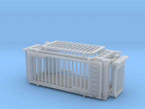 H0 Saur Cage Container in Smooth Fine Detail Plastic