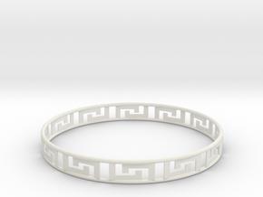 Gentle Bracelet in White Natural Versatile Plastic