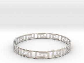 Gentle Bracelet in Rhodium Plated Brass