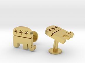 Republican Cufflinks in Polished Brass