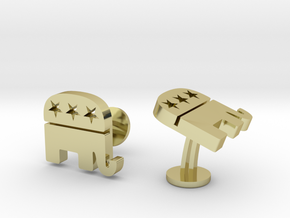 Republican Cufflinks in 18k Gold Plated Brass