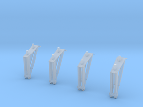 S1B Holddown Arms 1:48 4-Pack in Smooth Fine Detail Plastic