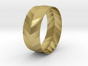 'ARROW' Bracelet  in Natural Brass