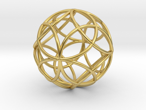 Mind 6D Matter in Polished Brass