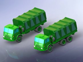 Steyr 680 4x4 and 6x6 Trucks 1/220 in Smooth Fine Detail Plastic