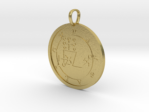Dantalion Medallion in Natural Brass