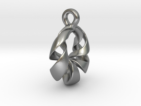 Torus Pendant Type A in Natural Silver: Small