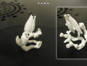 PAWN in White Natural Versatile Plastic