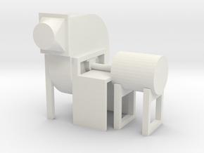 "'O Scale' - Industrial Fan - 20"" dia. disch.-opp. in White Natural Versatile Plastic"
