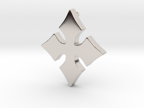 Cosplay Charm - Cross in Rhodium Plated Brass