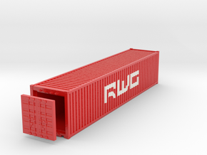 40 Foot Container DWG. HO Scale (1:87). Rev02 in Glossy Full Color Sandstone