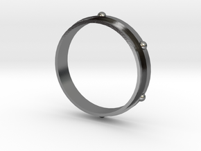 Awrbit Ring Size 6 in Polished Silver: 6 / 51.5