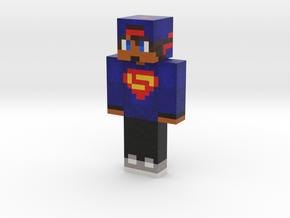 super man | Minecraft toy in Natural Full Color Sandstone