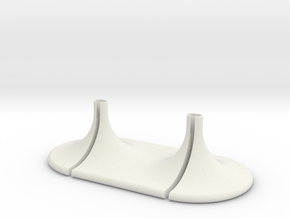 DUO DOCK FOR IPHONE AND AIRPODS in White Natural Versatile Plastic