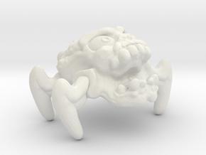 "Crabskull Ghost 1"" in White Natural Versatile Plastic"