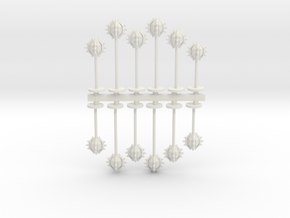 Gothic Space Mines Sprue in White Natural Versatile Plastic