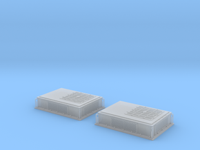 Rooftop-Mounted Air Conditioner Units (O scale) in Smoothest Fine Detail Plastic