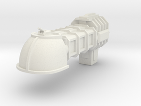 Merchant Civilian Shuttle Escort in White Natural Versatile Plastic