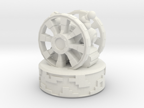Giant Wheel Clank in White Natural Versatile Plastic