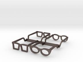 Eyeglasses in 1/10 in Polished Bronzed-Silver Steel