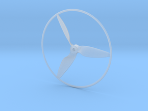"""Drone Propeller - 5"""" CCW Pusher With Rim in Smooth Fine Detail Plastic"""