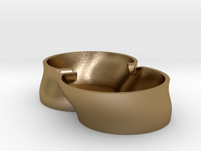 "Ashtray ""King size"" in Polished Gold Steel"
