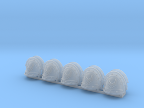 10 Sergeant Shoulder Pads in Smooth Fine Detail Plastic
