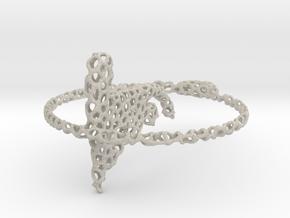 voronoi yoga earring pendant in Natural Sandstone