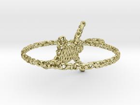 voronoi yoga earring pendant in 18k Gold Plated Brass