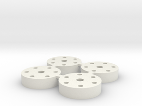1.25 in Silver WPL Wheel Adapter in White Natural Versatile Plastic