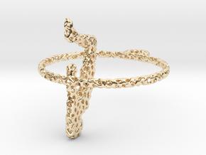 voronoi yoga earring pendant in 14k Gold Plated Brass