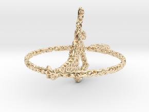 voronoi yoga  earring pendant in 14K Yellow Gold