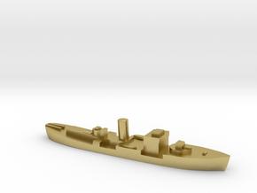 HMS Gloxinia corvette 1:3000 WW2 in Natural Brass